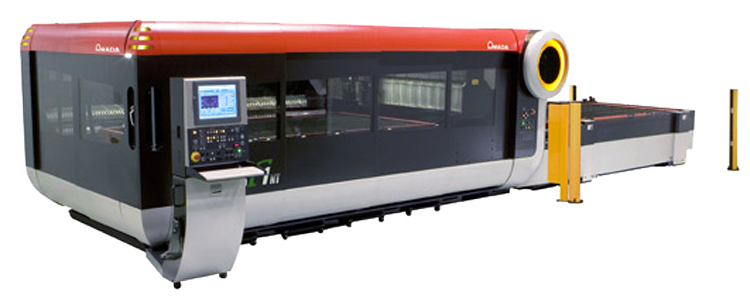 Installing an industrial-laser cutting machine